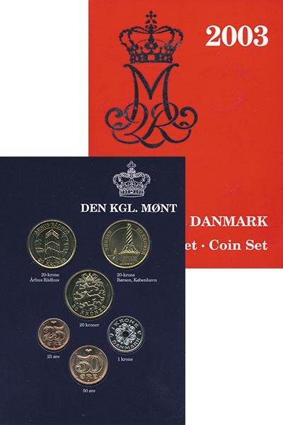 Изображение Подарочные монеты Дания Набор 2003 года 2003  UNC В набор входят четыр