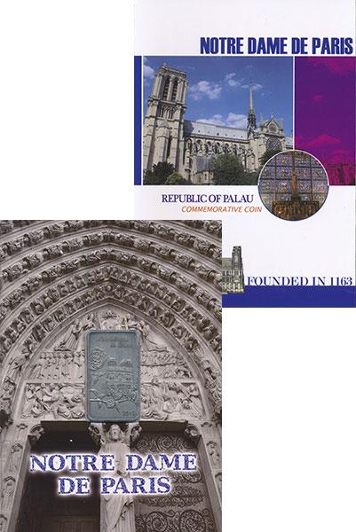 Изображение Подарочные монеты Палау 1 доллар 2019 Медно-никель UNC Собор Парижской Бого