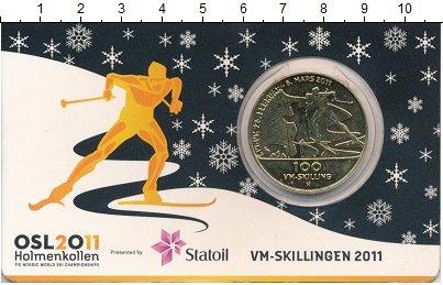 Изображение Подарочные монеты Норвегия 100 скиллингов 2011 Латунь UNC Локальный выпуск. Лы