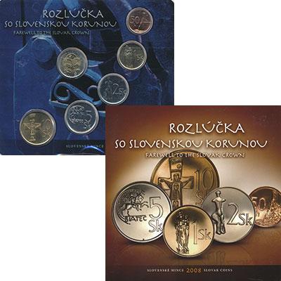 Изображение Подарочные монеты Словакия Набор 2008 года 2008  UNC