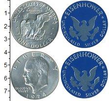Изображение Наборы монет США Набор США 1974 1974 Серебро UNC В наборе  1 доллар и