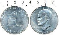 Монета США 1 доллар Серебро 1976 UNC фото