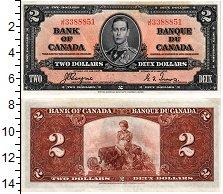 Банкнота Канада 2 доллара 1937 UNC фото
