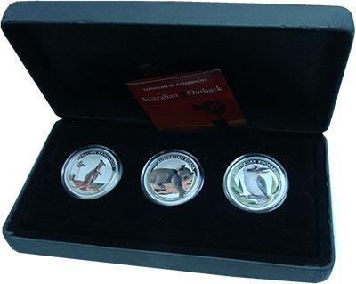 Изображение Подарочные монеты Австралия Аутбэк 2012 Серебро Proof `Набор ``Аутбэк`` по