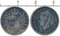 Изображение Монеты Великобритания Британская Гвиана 4 пенса 1940 Серебро VF