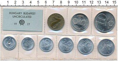 Изображение Наборы монет Венгрия Набор монет 1977 года 1977  UNC- В наборе 9 монет ном