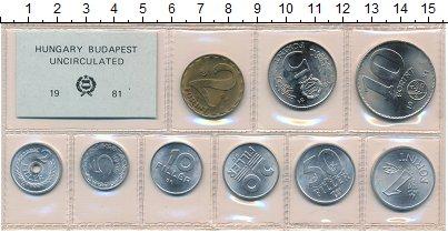 Изображение Наборы монет Венгрия Набор монет 1981 года 1981  UNC- В наборе 9 монет ном
