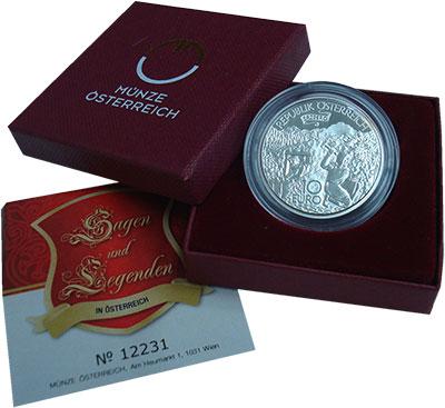 Изображение Монеты Австрия 10 евро 2010 Серебро Proof