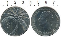 Монета Самоа 1 доллар Медно-никель 1974 UNC- фото