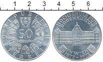 Монета Австрия 50 шиллингов Серебро 1972 UNC фото