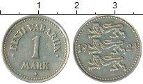 Монета Эстония 1 марка Медно-никель 1924 XF