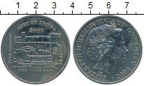 Монета Гернси 5 фунтов Медно-никель 2004 UNC фото
