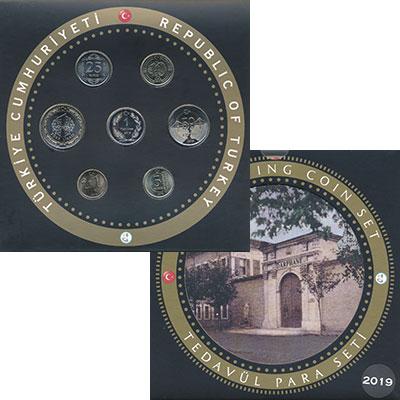 Изображение Подарочные монеты Турция Набор 2019 года 2019  UNC В набор входят шесть