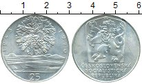 Монета Чехословакия 25 крон Серебро 1970 UNC-