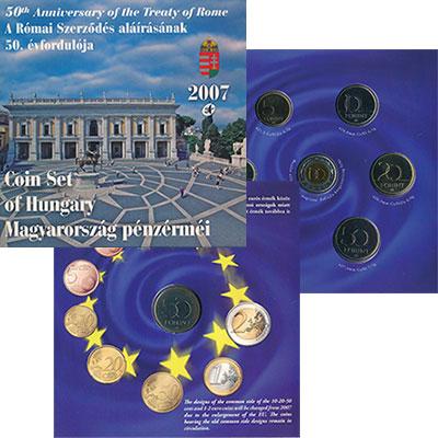 Изображение Подарочные монеты Венгрия Набор 2007 года 2007  UNC Набор монет от 1 до