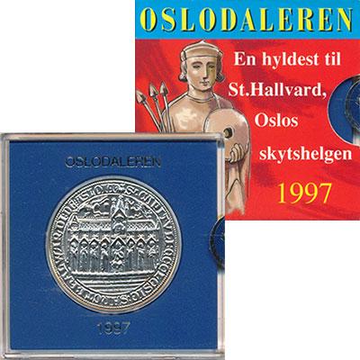 Изображение Подарочные монеты Норвегия 350 далеров 1997 Медно-никель Proof Сувенирная медаль.