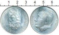 Монета Чехословакия 100 крон Серебро 1978 UNC- фото