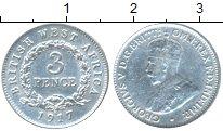 Монета Западная Африка 3 пенса Серебро 1917 XF фото