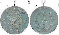 Изображение Монеты Голландия 2 стивера 1768 Серебро VF