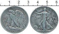 Монета США 1/2 доллара Серебро 1943 XF