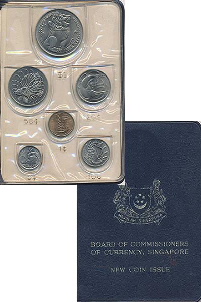 Изображение Подарочные монеты Сингапур Набор 1968 года 1968  UNC В набор входят шесть