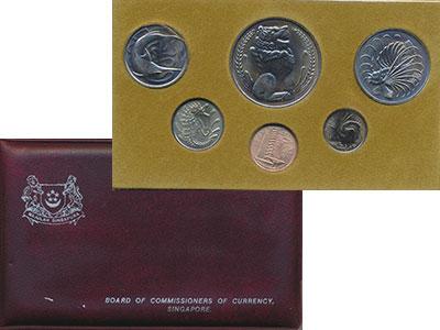 Изображение Подарочные монеты Сингапур Набор 1980 года 1980  UNC В набор входят шесть