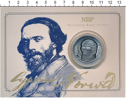 Изображение Подарочные монеты Польша 10 злотых 2013 Серебро Proof Циприан Камиль Норви
