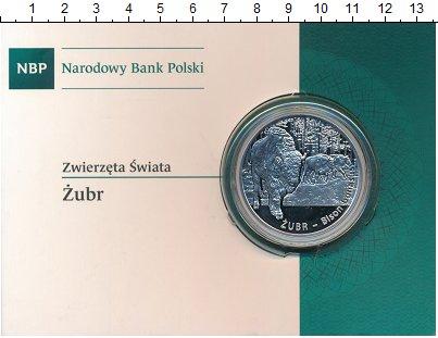 Изображение Подарочные монеты Польша 20 злотых 2013 Серебро Proof Животные мира. Зубр.