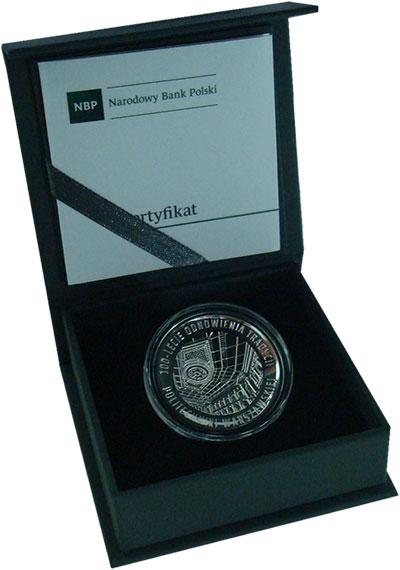 Изображение Подарочные монеты Польша 10 злотых 2015 Серебро Proof 100 лет Варшавскому