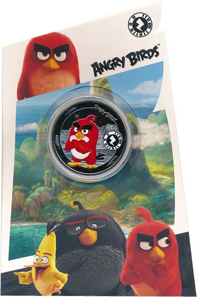 Изображение Подарочные монеты Сьерра-Леоне 1 доллар 2019 Медно-никель Proof Сердитые птицы, цвет