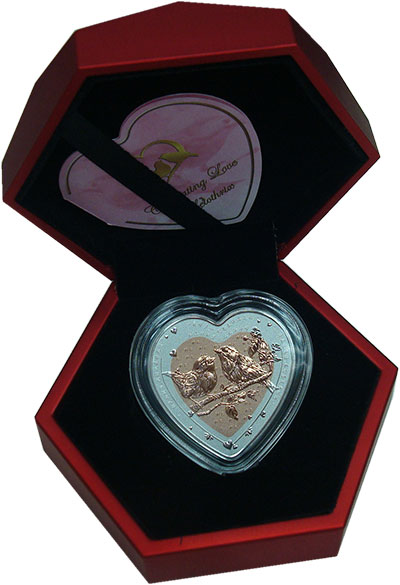 Изображение Подарочные монеты Фиджи 1 доллар 2019 Серебро Proof Любовь. Серебро 999.