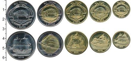 Изображение Наборы монет Остров Тортуга Набор 2019 года 2019  UNC В наборе 5 монет ном