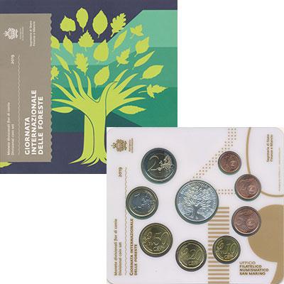 Изображение Подарочные монеты Сан-Марино Набор 2019 года 2019  UNC В набор входят восем