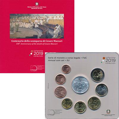 Изображение Подарочные монеты Италия Набор 2019 года 2019  UNC В набор входят восем