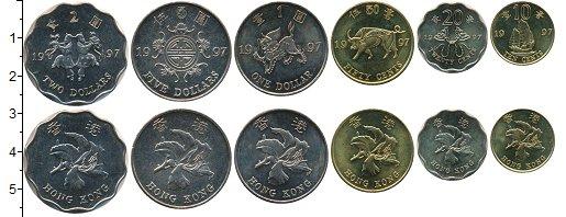 Изображение Наборы монет Гонконг Набор 1997 года 1997  UNC В набор входят шесть