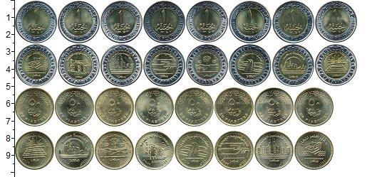 Изображение Наборы монет Египет Развитие Египта 2019  UNC В набор входят 16 мо