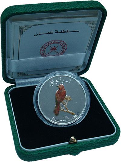 Изображение Подарочные монеты Оман 1 риал 2009 Серебро Proof `Серия ``Птицы Омана