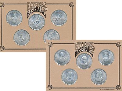 Изображение Подарочные монеты Хатт-Ривер 5 долларов 1992 Медно-никель UNC Отцы бейсбола. В наб