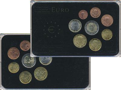 Изображение Подарочные монеты Ватикан Евронабор 2011 года выпуска 2011  UNC В наборе 8 монет ном