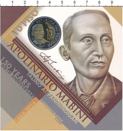 Изображение Подарочные монеты Филиппины 10 писо 2014 Биметалл UNC 150 лет со дня рожде