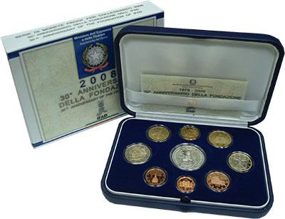 Изображение Подарочные монеты Италия Евронабор 2008 2008  Proof Подарочный набор пос