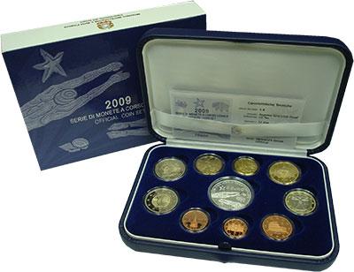 Изображение Подарочные монеты Италия Евронабор 2009 2009  Proof Подарочный набор пос
