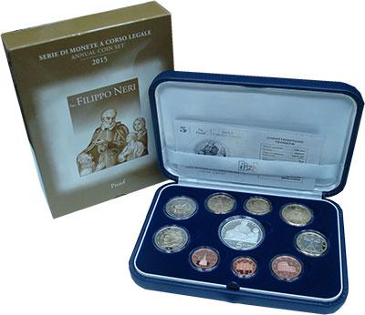 Изображение Подарочные монеты Италия Евронабор 2015 2015  Proof Подарочный набор вкл