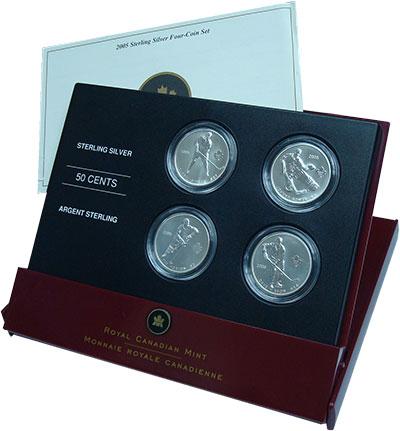 Изображение Подарочные монеты Канада 50 центов 2005 Серебро UNC `Подарочный набор мо