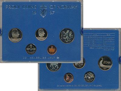 Изображение Подарочные монеты Норвегия Набор 1997 года 1997  Proof В набор входят четыр