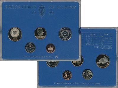 Изображение Подарочные монеты Норвегия Набор 1999 года 1999  Proof В набор входят четыр