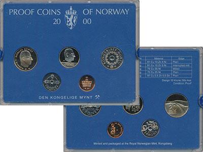 Изображение Подарочные монеты Норвегия Набор 2000 года 2000  Proof В набор входят четыр