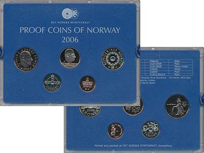 Изображение Подарочные монеты Норвегия Набор 2006 года 2006  Proof В набор входят четыр