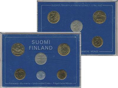 Изображение Подарочные монеты Финляндия Набор 1982 года 1982  UNC В набор входят шесть