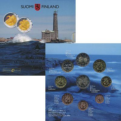 Изображение Подарочные монеты Финляндия Евронабор 2006 года 2006  UNC В набор входит восем